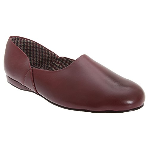 Sleepers Abraham - Chaussons en Cuir Style Grec - Homme Bordeaux