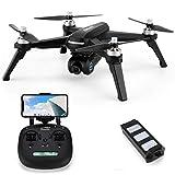 JHSHENGSHI GPS Wi-Fi RC Drone con Cámara 1080P HD, Gran Dron para Principiantes, Quadcopter con Altitude Hold, Motor sin escobillas Adecuado para Adultos, niños y Principiantes, Black