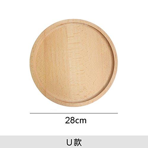 Bezigeorey Holz- Fach Buche Obst Brot Holz- Fach, Disc 28 cm Spleißen Öl (Spleißen Fach)