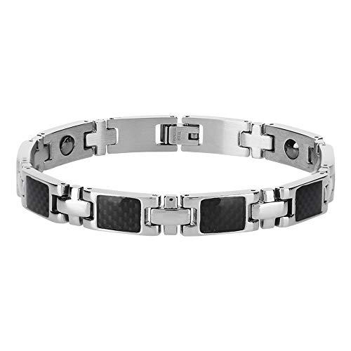 Titan Magnetfeldtherapie Armband, Herren Titan-Magnetfeldtherapie-Armband für Arthritis-Schmerzlinderung Größe einstellbar