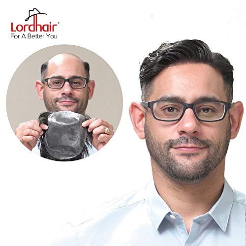 Perücken Für Schwarze Männer - Lordhair echtes Menschenhaar Toupee, mit super