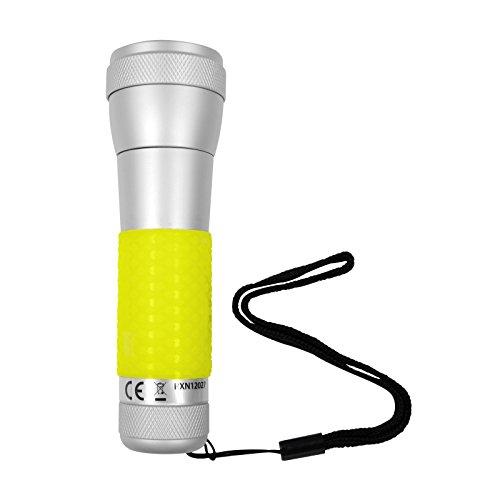 Zoombare-2in1-Taschenlampe-und-Tischleuchte-Mit-Power-LED-Kaltwei-Aluminium-I-Glow-Inkl-3-x-AAA-15V-Batterien-Handlampe-Flashlight-Camping-Wandern