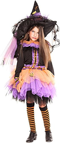 Hexe Kostüm Spellbound - Chiber - Hexenkostüm De Luxe für Kinder (Größe: 10)