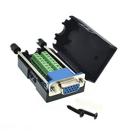 Ochoos DB15 Stecker VGA Breakout DB15 Terminal VGA Buchse D-Sub DB15 VGA Buchse 3 Reihen 15 Pin Stecker Breakout Connector -