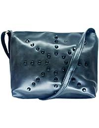 PU Leather Stylish Sling Bag For Girls / Women (Black Color) - B075QJPPN2