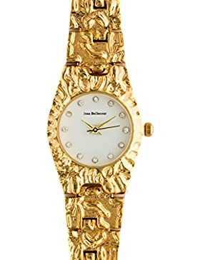 Jean Bellecour–reds23-gw Damen-Armbanduhr 045J699Analog weiß Armband Stahl vergoldet Gold