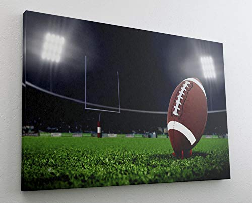 Football Sport Field Goal Ball Kick Leinwand Bild Wandbild Kunstdruck L0537 Größe 150 cm x 100 cm