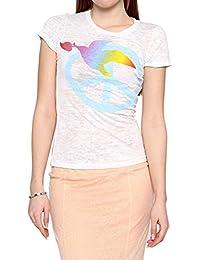 Dorothy Blue Damen Shirt Motiv T-Shirt , Farbe: Weiss