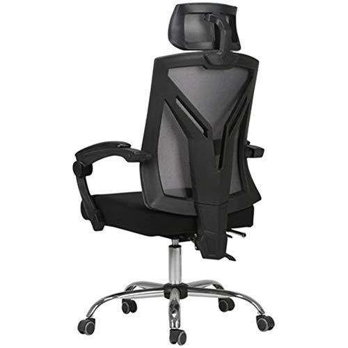 HEIFEN Ergonomischer Stuhl, Design-Computerstuhl, atmungsaktives Netzmaterial, ineinandergreifende Armlehne, verstellbare Rückenlehne, 360 ° -Drehung Black