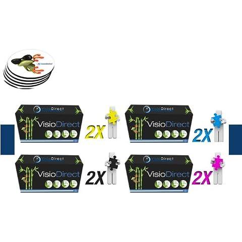 Paquete de ocho Tóner cartucho de tinta Laser C9730A 2