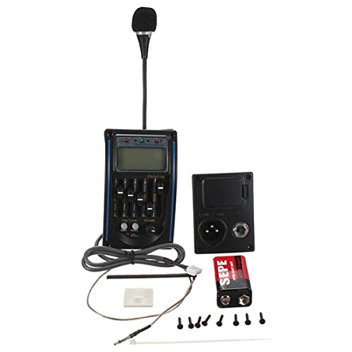 Stimmgeraet - SODIAL(R) 5 Band EQ Equalizer Tonabnehmer Pickup Tuner Stimmgeraet fuer Akustik Gitarre mit 6F22 9V Batterie