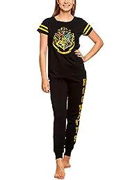 HARRY POTTER Pijama Escudo de Armas para Mujer 2pcs Elven Forest Cotton  Black 8f08cb9244424
