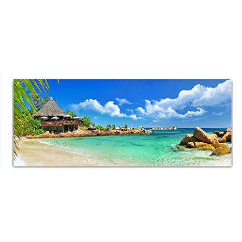 DekoGlas Glasbild \'Strand Meer Steine\' Acrylglas Bild Küche, Wandbild Flur Bilder Wohnzimmer Wanddeko, einteilig 125x50 cm