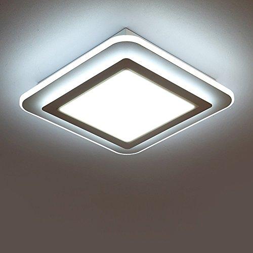 Zimmer Decke LED Lampe Wohnzimmer Schlafzimmer rechteckige Restaurant Balkon Eingang Küche und WC Zimmer Beleuchtung (Farbe: weiß, Größe: 12 W 35 cm) (Eingang 1-bahnhof)