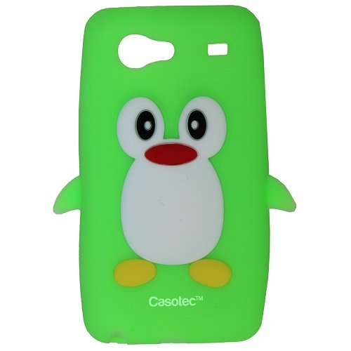 Casotec Penguin Silicone Jelly Back Case Cover for Samsung Galaxy S Advance i9070 - Green  available at amazon for Rs.125