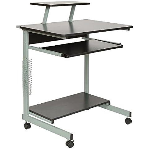 ts-ideen Tavolino da Computer Scrivania con porta tastiera e ripiano per Monitor