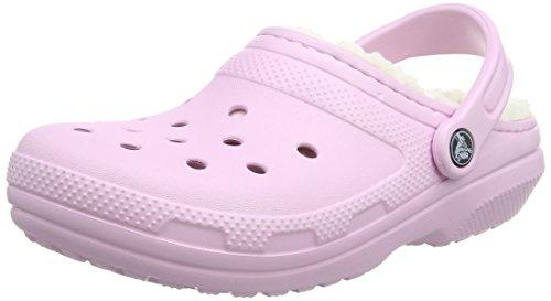 crocs Classic Lined Clog, Unisex - Erwachsene Clogs, Pink (Ballerina Pink/Oatmeal), 37-38 EU (Einfache Ballerina)