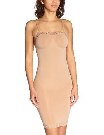 Sous-robe gainante en dentelle avec armatures et bretelles amovible_UNI_LITES - Beige (Chair) - FR : 42 (Taille fabricant: L/42)