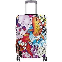 ALINLO - Diseño abstracto y mariposas, para equipaje de 18 a 32 pulgadas