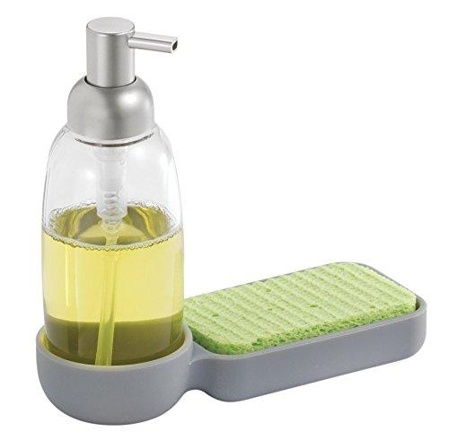 mdesign-dispenser-sapone-rabboccabile-354-ml-dispenser-sapone-con-vano-organizzatore-per-spugne-spaz