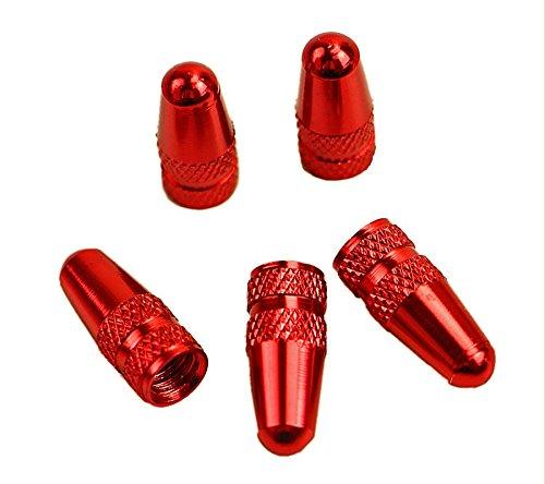 Fahrrad Ventilkappe in verschiedenen Farben 4er Set Reifenventil Sclaverand French Ventil Dunlopventil Sclaverandventil Fahrradventilkappen - Direktversand aus Deutschland von ETU24 (Rot)
