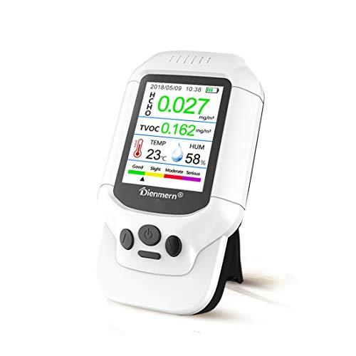 CCDYLQ Handheld Air Quality Monitor Formaldehyd (HCHO) TVOC Luftqualitätsindex (AQI) Feuchtigkeitstemperaturdetektor für Innen-Outdoor-Genaue Echtzeit mit Alarm -