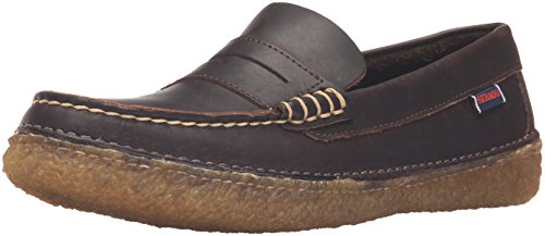 Sebago Mens Ronan Penny Slip-On Loafer Dark Brown Leather