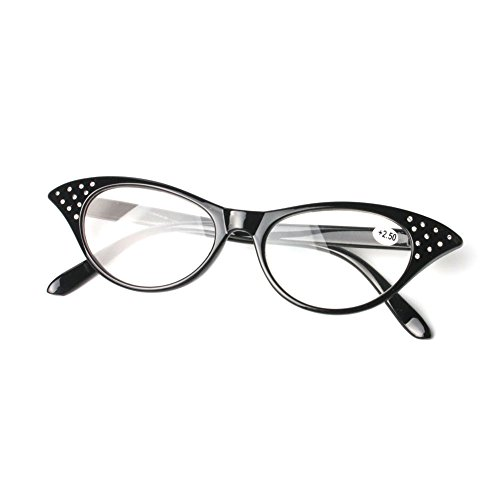 Meijunter Womens Fashion Brille Rhinestone Katze Auge Vergrößern Lesebrille