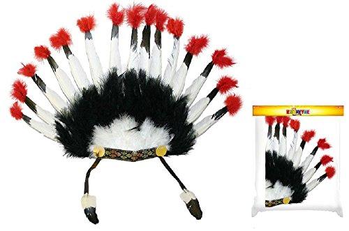 Rappa Wunderschöner, großer Federschmuck für (Kinder Indianer Junge Kostüm)