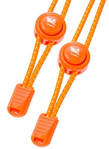 TAIPA Laces - Schnellschnürsystem I Elastische Schnürsenkel mit Schnellverschluss für Kinder und Sportler (orange)