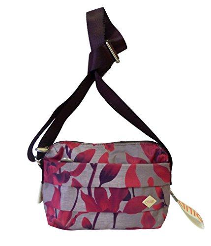 Oilily Ruffles Shoulderbag SHZ dark red Damen Schultertasche Umhängetasche rot (22 x 15 x 8 cm)
