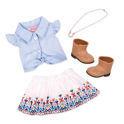 Our Generation BD30359Z Puppenoutfit, Mehrfarbig (Puppe Generation Sind Schuhe)