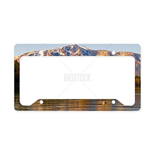 CafePress-Lake Tahoe bei Sonnenuntergang-- aluminium Nummernschild Rahmen, Lizenz Tag Halter (Lake Frame License Tahoe Plate)