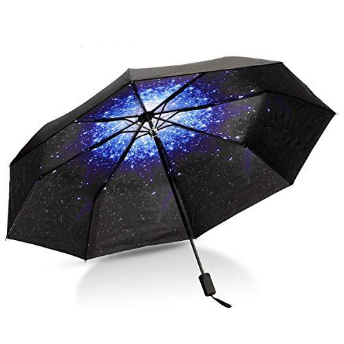 Paraguas Plegable, CAMTOA Creativo Cielo Estrellado