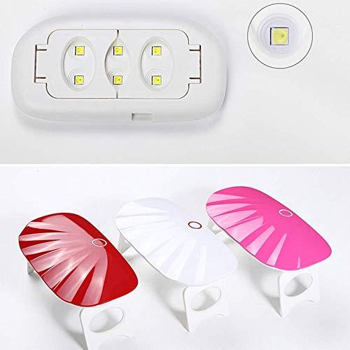 Nagel Trockner UV LED Lampen Nagel Trockner Heimgebrauch Micro Tragbare USB Kabel Gel Nagellack Trockner Maschine Mini Nagelkunstwerkzeuge, rot 57 Micro Mini