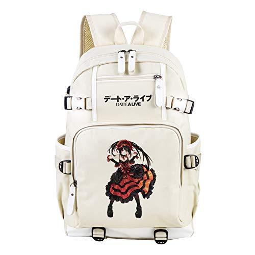GuiSoHn Date a Live Anime Student Rucksack Lässige Schultasche Jungen Mädchen Kinder Gedruckt Daypack mit USB Ladeanschluss (Date A Live Vol)