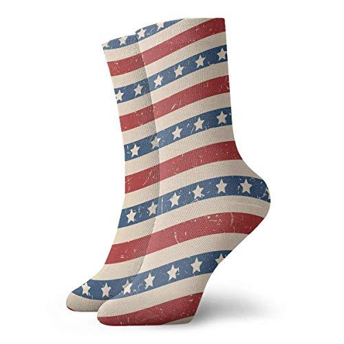 Patriotische Stars and Stripes strukturiertes Muster Sport Compression Short Sock Baseball Sport 12