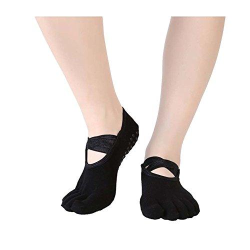 Lisanthus Frauen Rutschfeste Socken für Yoga Pilates Barre Dance, Damen, Schwarz, Einheitsgröße