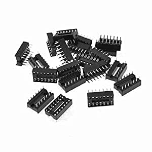 TTcity 20 PC-14 Pins, 2,54 mm Pitch DIP IC-Sockel Solder Typ Adapter