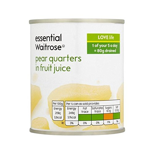 Quarts Waitrose Poiriers Essentiels Dans Le Jus De Fruit 220G - Paquet de 2