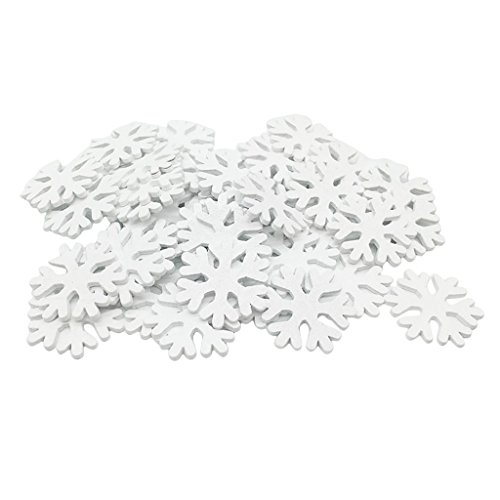 100 Stk Weihnachten Schneeflocken Schnee Weihnachtssterne Dekoration Fensterdeko Tischdeko