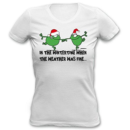 Girlie-Shirt ::: In the Wintertime... ::: Hemd für Weihnachten Weiß
