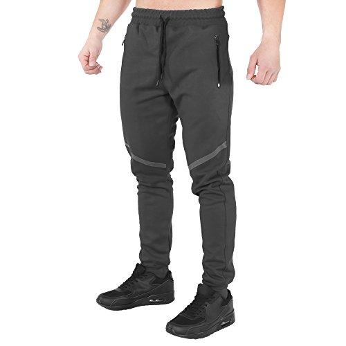 SMILODOX Slim Fit Jogginghose Herren | Trainingshose für Sport Fitness Gym & Freizeit | TechPro Sporthose - Jogger Pants - Sweatpants Hosen - Freizeithose Lang, Farbe:Anthrazit, Größe:S
