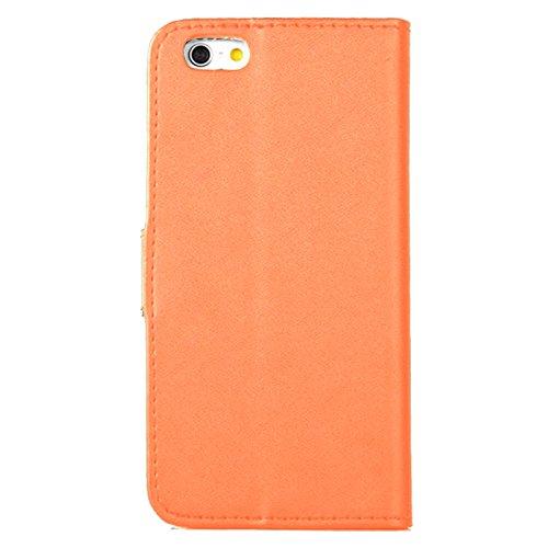 eximmobile–Book Case Étui de téléphone portable pour Apple iPhone Téléphone avec compartiments à cartes dans Apple iPhone Housse |schutzhülle en PU Housse en cuir–Comme un étui à rabat | Étui | Sa Orange