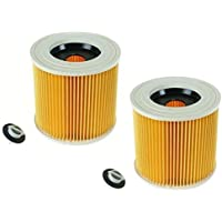 First4Spares Cartridge Filter For Karcher Wet & Dry Hoover Vacuum Cleaners (Pack of 2 Filters)