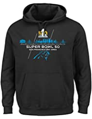 "Carolina Panthers Majestic NFL Super Bowl 50 ""Destination"" Hooded SweatShirt Chemise"