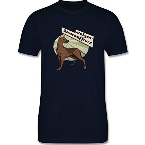 Hunde - Stolzer Dosenöffner Hund - Herren Premium T-Shirt Navy Blau