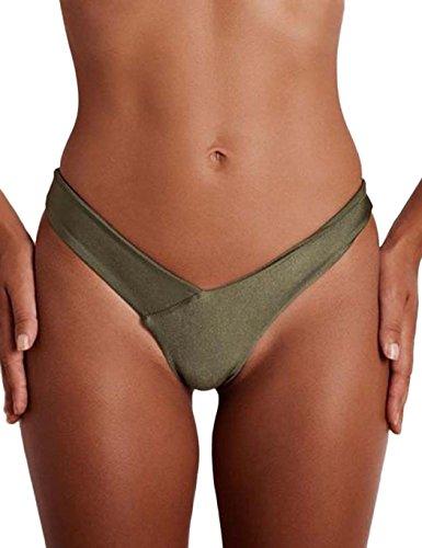 Ncient String Ficelle Plage Sexy Femme,Tanga Culottes Maillot de Bain Bikini Triangle Bas de Plage