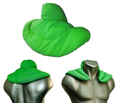 Cuscino del collo | rana verde | Cuscino semi d'uva | Terapia caldo e freddo