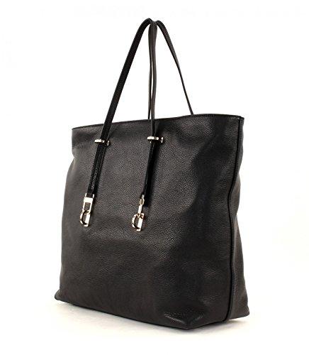 Coccinelle Iggy Shopper tasche Leder 35 cm Nero